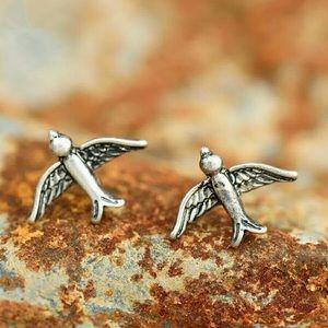 Minimalist Bird Stud Earrings